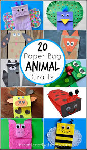 20 paper bag animal crafts for kids