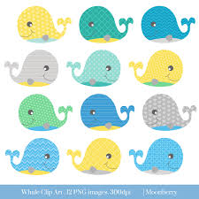 baby shower whale clipart 56