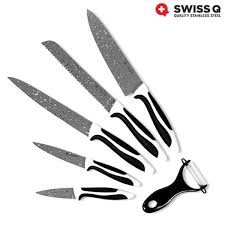 swiss q stone coated knife set 6 pieces buy at wholesale price