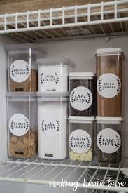 six steps pantry organization with free printable labels