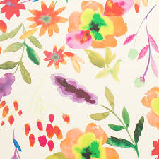 flower wrapping paper splashy floral roll wrap