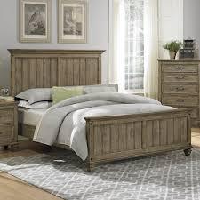 homelegance sylvania panel bed in oak veneered driftwood beyond