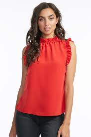 sleeveless ruffle blouse sleeveless ruffle blouse mandee