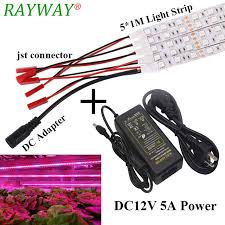 12v dc led grow lights selling 5 1m smd 5050 led grow light strip for plants flower