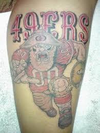 49ers tattoo designs fan team tattoos superbowl xlvii edition
