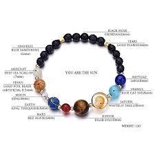 adjustable bead bracelet images Menglina women men handmade universe galaxy eight planets bracelet jpg