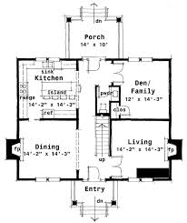 floor plan of colonial house plan 67543 architectural