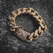 cuban link bracelet images Diamond cuban link bracelet 19mm in yellow gold the gld shop jpg