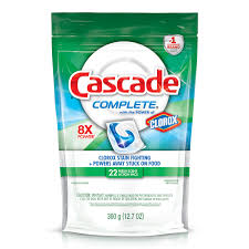 cascade complete actionpacs with clorox cascade detergent