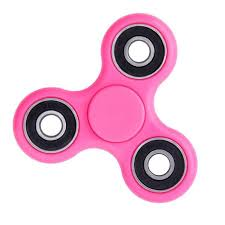 hot pink colour tri fidget hand spinner hot pink color toy stress reducer ball