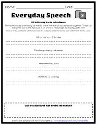 fill in missing words in sentences everyday speech everyday speech