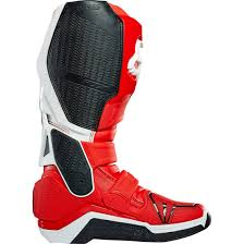 dirt bike racing boots fox instinct red white boots motocard