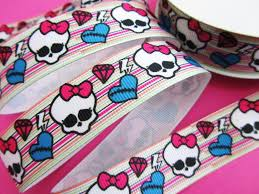 skull ribbon embellishment world ribbon ribbon 10 yards