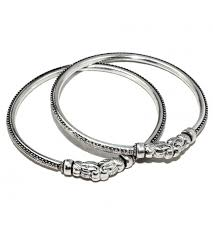 bracelet silver bangle images Virtual fine work elephant shape oxidized plain silver 925 JPG