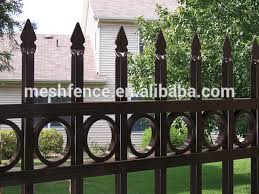 galvanized coated metal flower wrought cast iron fence ornaments