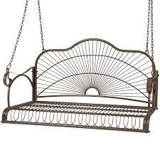 Wrought Iron Outdoor Swing by Best Choice Products Iron Patio Hanging Porch Swing Chair Bench