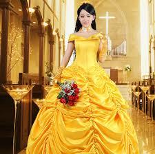 belle costume ladies cosplay princess fancy dress uksize 6