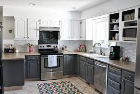 kitchen contemporary grey kitchen cabinet design with wooden