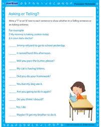 asking or telling u2013 punctuation worksheets and printables u2013 jumpstart
