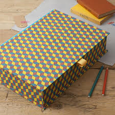 Yellow Decorative Box Colourful Patterned Boxfiles Individually Handmade To Order Here
