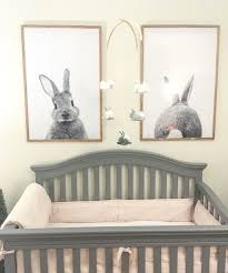 rabbit nursery bunny nursery posters from etsy and mobile made pink and