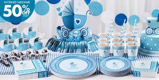 baby shower decorations for blue stroller baby shower party supplies party city