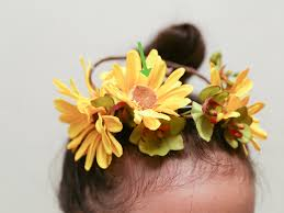 crowning floral spray 3 ways to make a flower crown wikihow