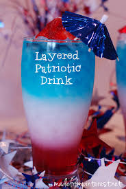 layered patriotic drink layering beverage and holidays