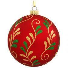 ornaments set boxed glitter sequin 24 count
