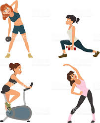 fitness cartoon character stock vector art 528917580 istock