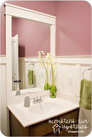 Bathroom Mirror Trim by Board And Batten Bathroom Mirror Frame Diy Bathroom Update
