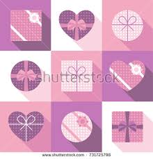 boxes with bows set different gift boxes bows stock vector 731725798