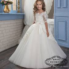 1st holy communion dresses princess holy communion dress half sleeves gown