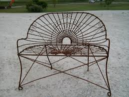 Antique Outdoor Benches For Sale by Wrought Iron Style Settee Metal Patio Furniture