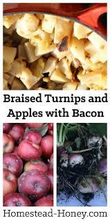 braised turnips and apples recipe homestead honey