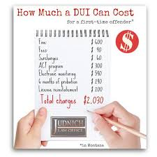 how much does a dui cost in montana