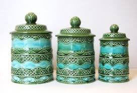 green canisters kitchen decorative kitchen canisters foter