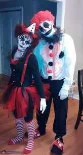 Scary Halloween Clown Costumes Creepy Clown Couple Costume Clown Evil Clowns Pom Poms