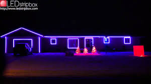 Christmas Lights House by Rgb Led Strip Christmas Lights On Ledstripbox Com Youtube