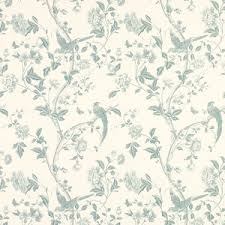 Duck Egg Blue Floral Curtains Summer Palace Off White Duck Egg Floral Curtain Fabric Laura Ashley