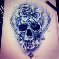 skull tattoo sketch love the realism i u0027d want more light or color
