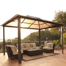 Sun Shelter Gazebo Rona by Exterior Design Amazing Hardtop Gazebo With Sofa Sets For Sun