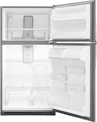 table top freezer glass door whirlpool wrt311fzd 33 inch top freezer refrigerator with