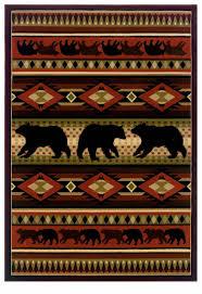 decorating black bear rugs western area rug rustic rug