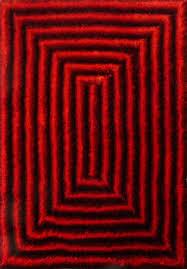 5 u0027x8 u0027 3d design black and red high quality living room shag rug
