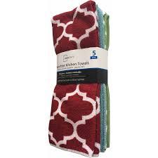 kitchen towel set walmart towel mainstays 5 piece kitchen towel set 3 sets walmart com walmart 554230031 mainstays 5 piece kitchen towel set 3 sets