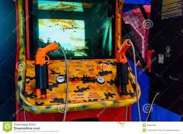 shooting arcade game editorial stock image image 46501889