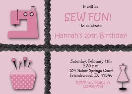 art birthday invitations sewing party girls birthday party invitation custom