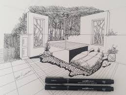 garden sketch using two point perspective tutorial youtube