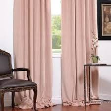 Petal Pink Curtains Signature Petal Velvet Blackout 96 Inch Curtain Panel